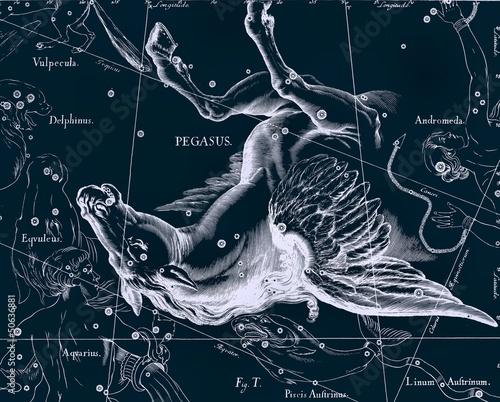 Constellation vintage map