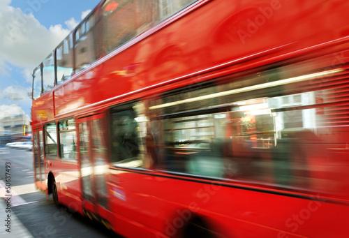 Photo sur Aluminium Londres bus rouge London bus.