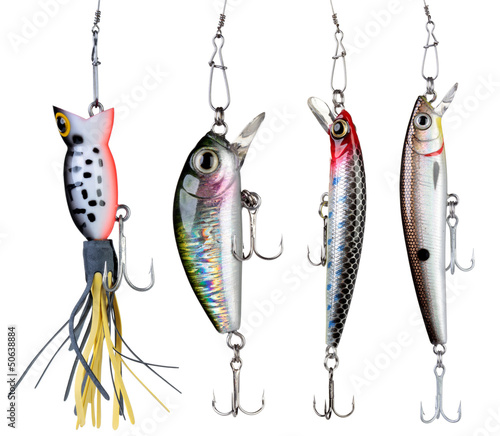 Fotografie, Obraz  Fishing baits.