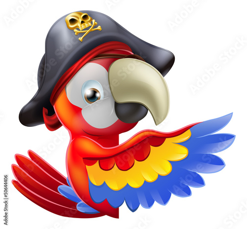 Photo Stands Pirates Parrot pirate pointing