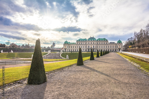 Bevedere Palace and Park in Vienna