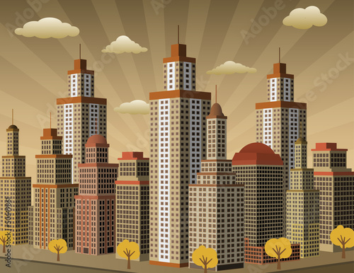 miasto-w-perspektywie-kolory-sepii