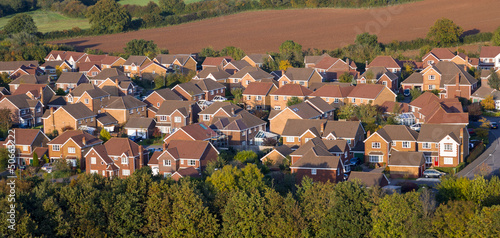 Photo  Aerial View of UK Houses