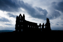 Silhouette Of  Whitby Abbey Wi...