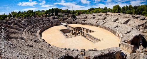 Fotografie, Obraz  Roman Amphitheater ruin Italica. Province Seville, Spain