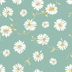 Tapeta pretty daisy seamless background