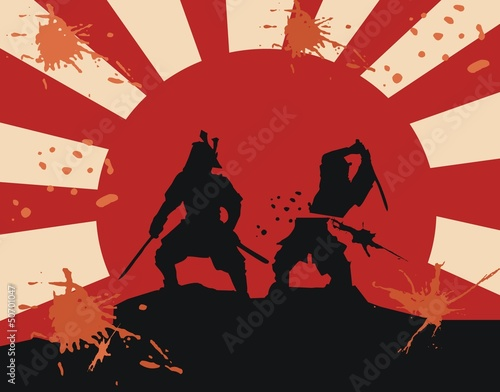 Photo  samurai - blood - fight (epic martial art)