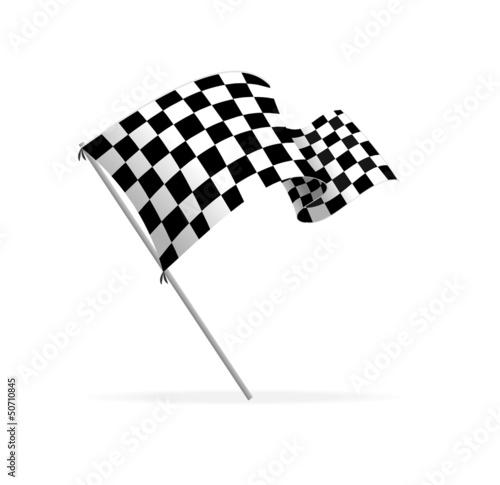 Foto op Plexiglas F1 Vector Racing flag