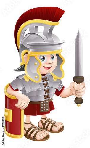 Poster Knights Roman Soldier with Sword