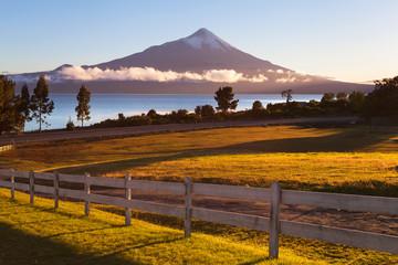 View of the city Puerto Varas, llanyauihue Lake, Chile