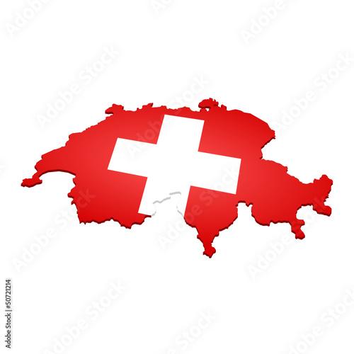 Fotografie, Obraz  landkarte schweiz III
