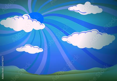 Papiers peints Ciel White clouds in a blue sky
