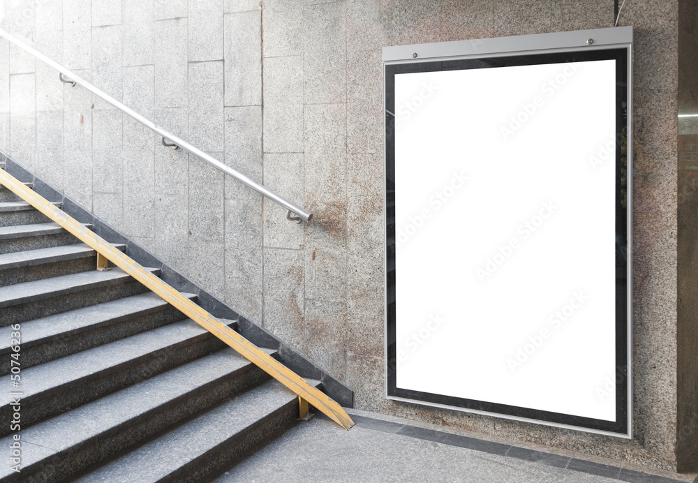 Fototapety, obrazy: Blank billboard or poster in hall