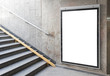 canvas print picture - Blank billboard or poster in hall