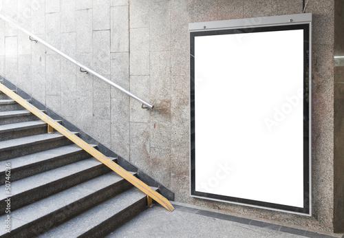 Cuadros en Lienzo  Blank billboard or poster in hall