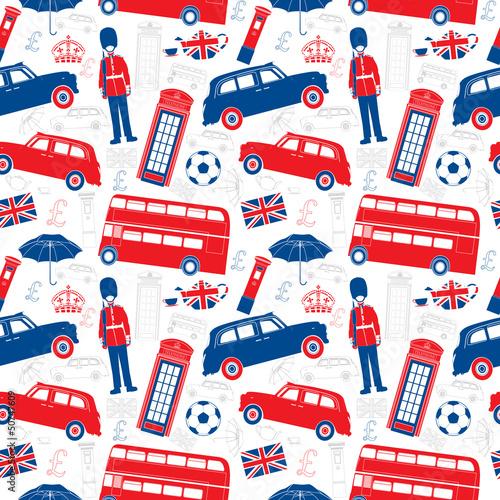 londynscy-symbole-ikony-bezszwowy-wektorowy-chodak-sylwetka