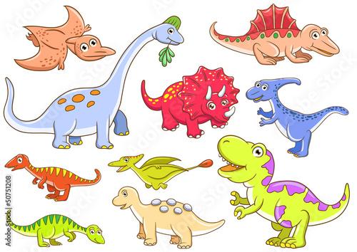 Tuinposter Dinosaurs Cute dinosaurs