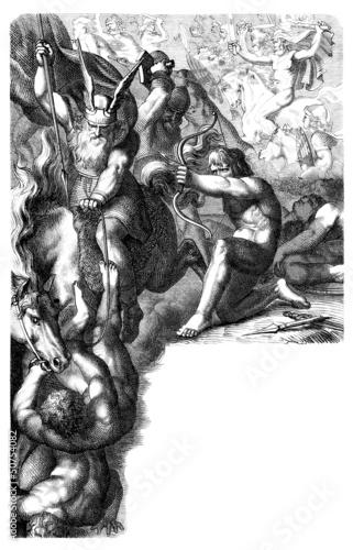 Germanic/Nordic Mythology : War Ases vs Vanes Canvas Print