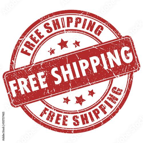 Fotografía  Vector free shipping stamp
