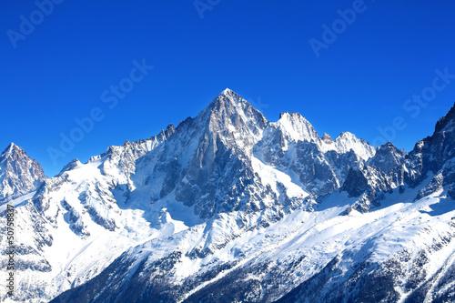 Aiguille Verte - Massif du Mont-Blanc (Haute-Savoie) Tablou Canvas