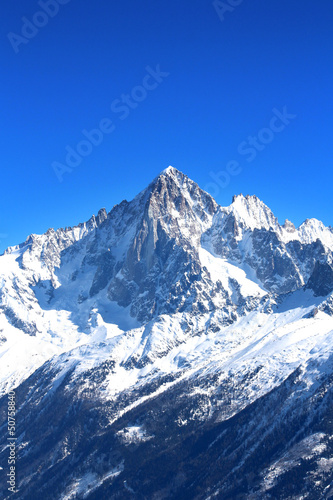 Fototapeta Aiguille Verte - Massif du Mont-Blanc (Haute-Savoie) obraz na płótnie