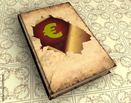 Foto op Plexiglas Vintage Poster 3D Buch V - Euro