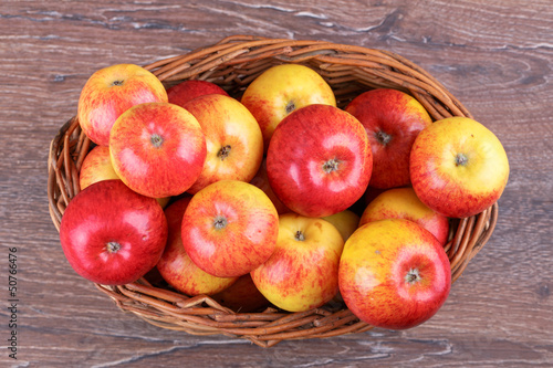 Fruits apples in a basket