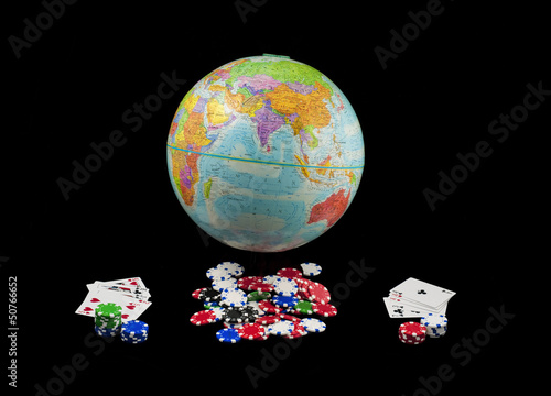 Gambling the world away плакат