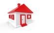 Kleines 3D Einfamilienhaus Rot