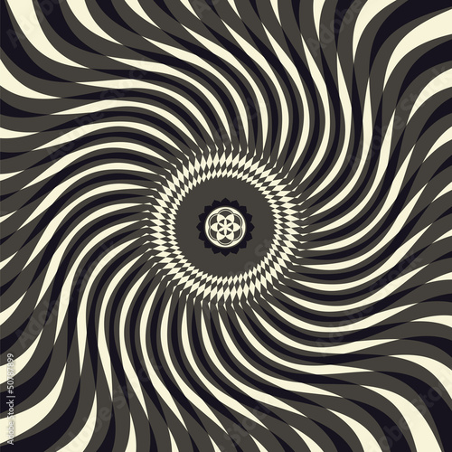 Wall Murals Psychedelic sacral symbols and optical illusion vector collection