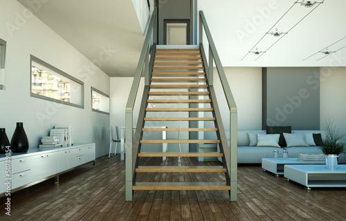 Foto op Plexiglas Trappen modernes Loft