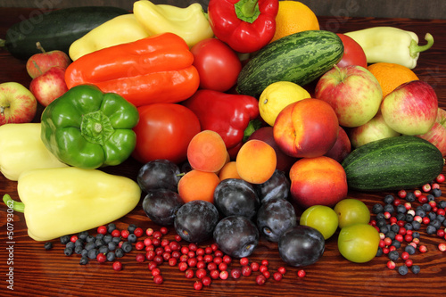 Fotobehang Groenten Fruits and vegetables