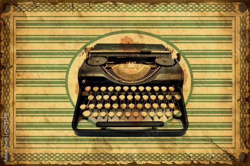 Foto op Plexiglas Vintage Poster Retroplakat - Schreibmaschine