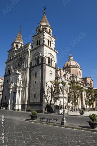 Photo europe, italy, sicily, acireale dome