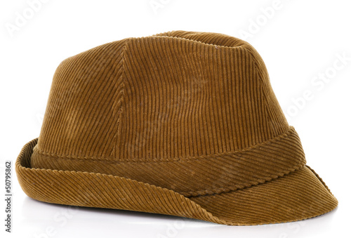 1ad19ed25a7a7 Old brown hat on isolated on white background - Buy this stock photo ...