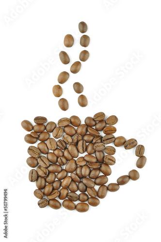 puchar-wykonany-z-ziaren-kawy-pojecie