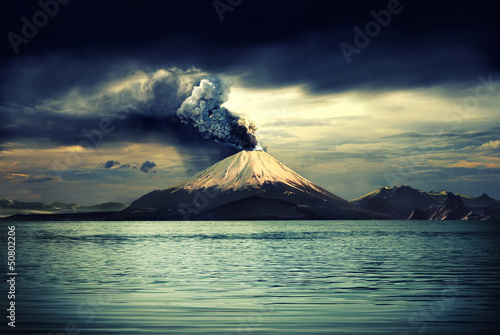 Spoed Foto op Canvas Vulkaan Volcanos and all things related