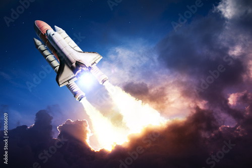 Deurstickers Nasa Space shuttle