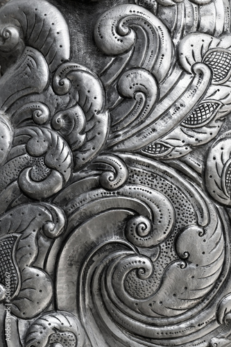 Fotografia, Obraz engraving on silver, background