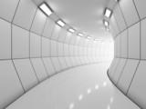 Fototapeta Przestrzenne - Modern long corridor