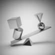 Abstract shapes from metal