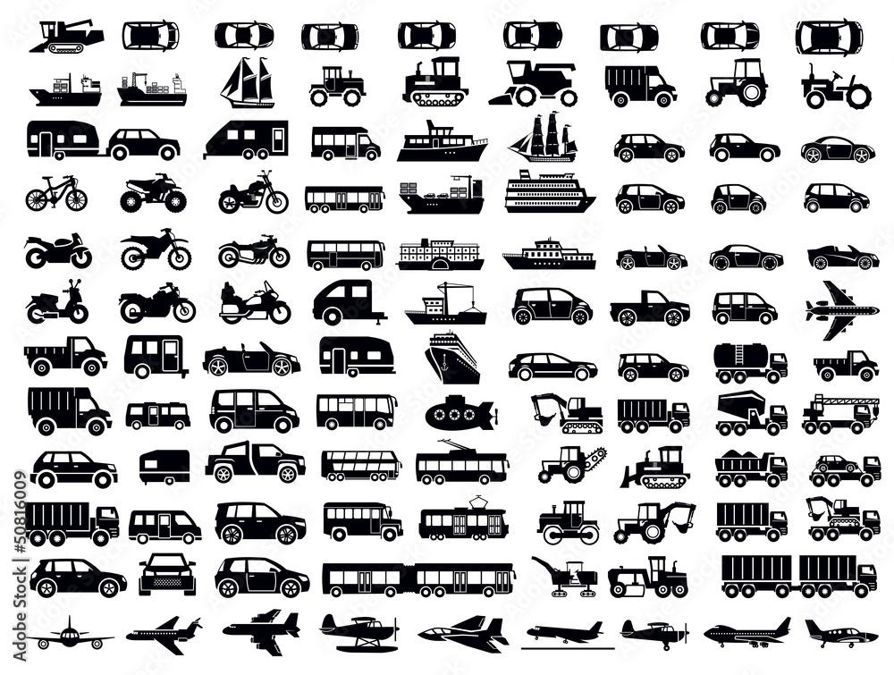 Fototapeta transportation icon