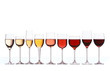 canvas print picture - Wine gradient