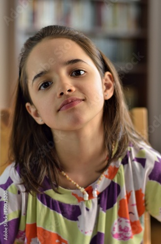 Portrait Of Hispanic Little Girl - Buy This Stock Photo And Explore Similar Images At -8635