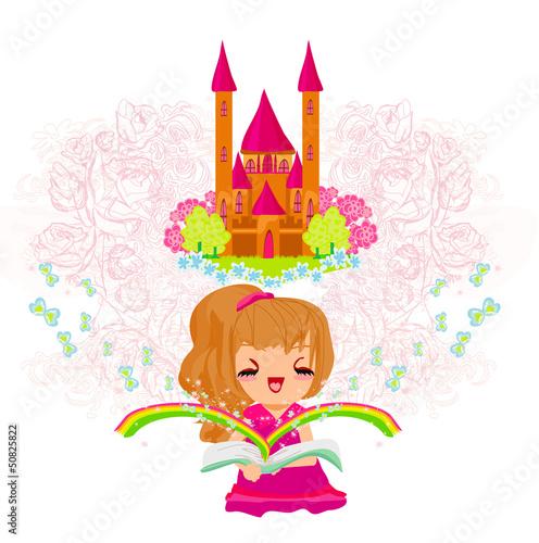 In de dag Regenboog Dreaming about fairytale