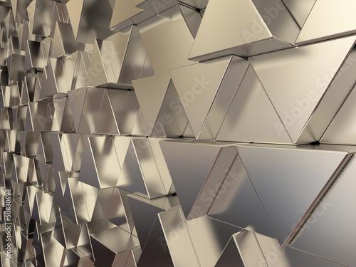 blyszczace-trojkatne-metalowe-paski-tle