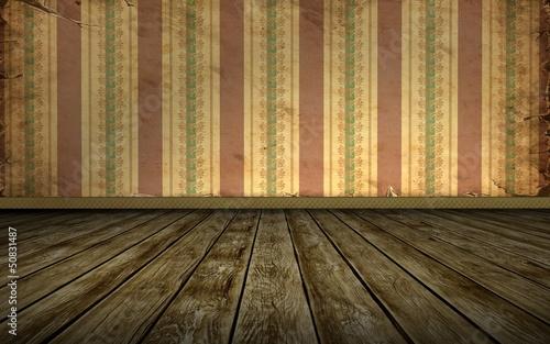 Papiers peints Affiche vintage Tapetenraum - Blassrotes Muster