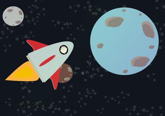 svemirski brod koji prelazi svemirski vektor