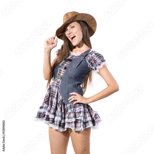 Fotografia  beautiful sexy country and western girl