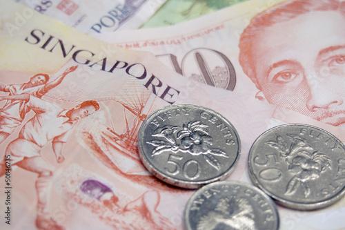 Photo sur Toile Singapoure Singapore money